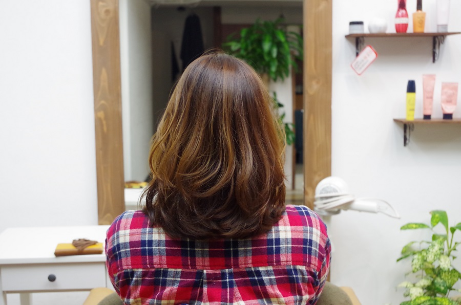 西田さんに髪を切っていただきました。