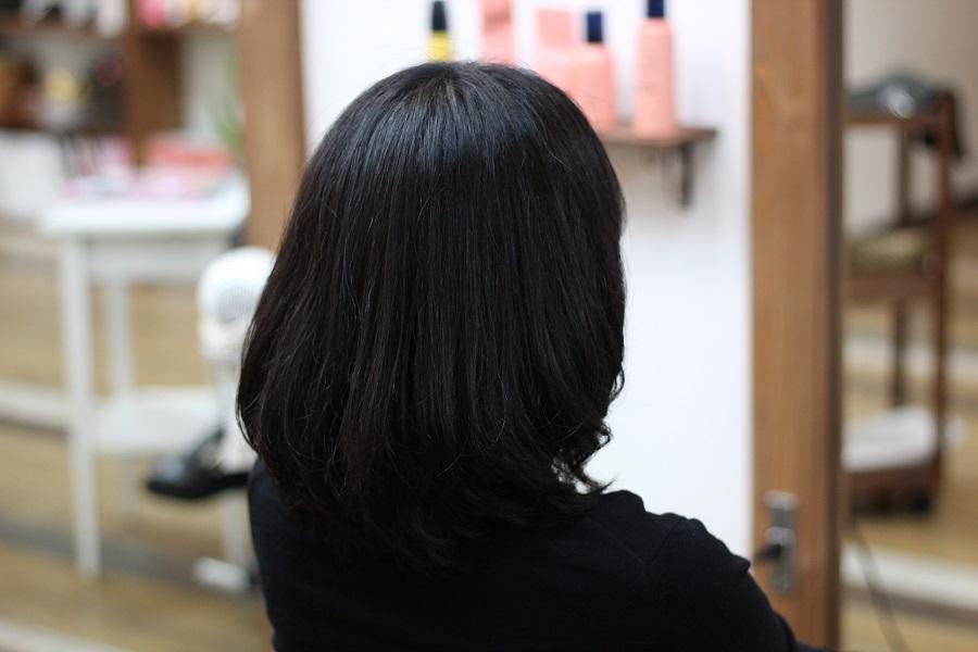 しっかりした髪をデジタルパーマで柔らかく