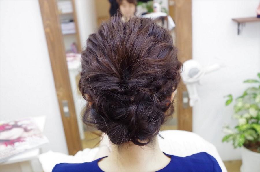 結婚式のヘアセット☆お客様スタイル