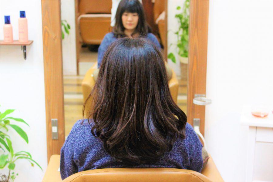 髪が多くてもデジタルパーマで扱いやすく