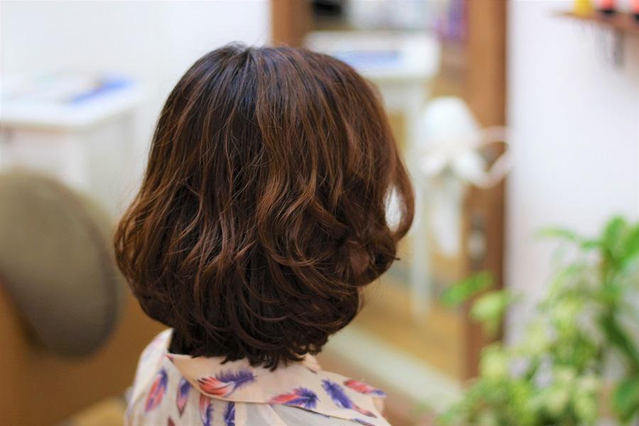 髪がやわらかくてしっかりパーマが出ない方にデジタルパーマでしっかりウェーブスタイル