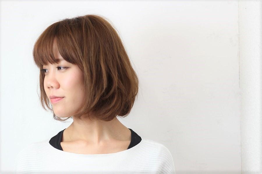 前髪のデジタルパーマで簡単に可愛くなれる
