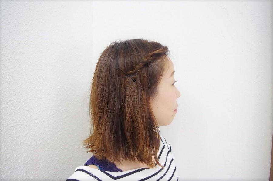ボブアレンジ☆前髪なし編