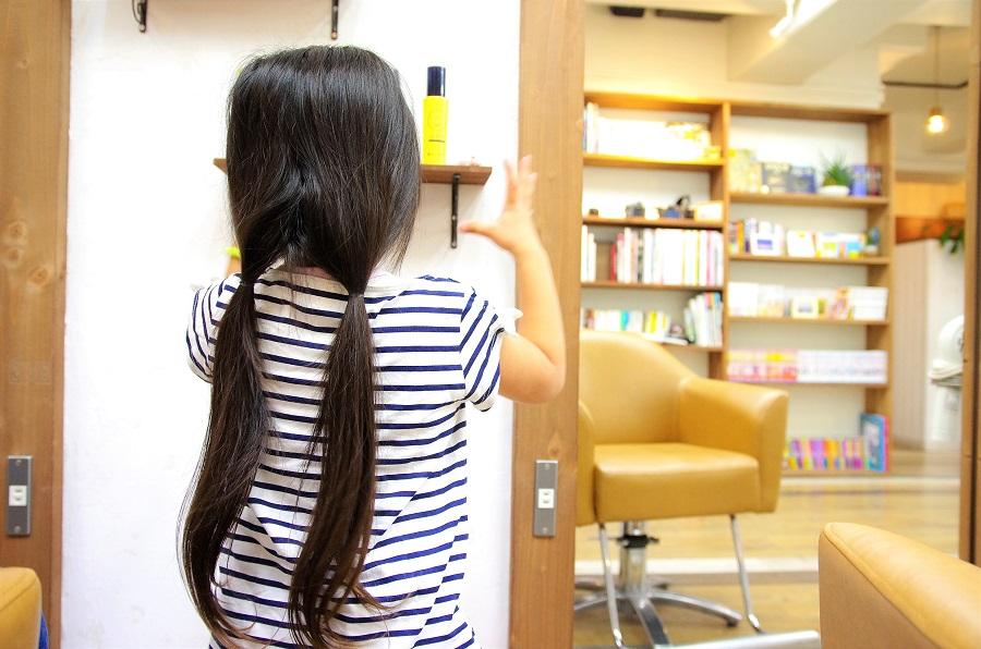 初めての美容室はヘアドネーション。