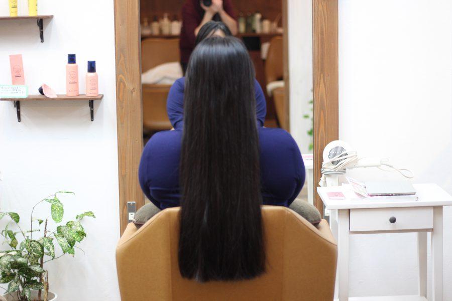 初めてヴァージン毛のヘアドネーションをさせていただきました